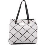 Černo-šedá kabelka se vzorem Anna Smith