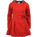 Červený dámský kabát s kapucí Tranquillo EMILIA