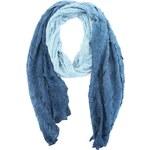 Dlouhý modrý šátek s ombre efektem Passigatti