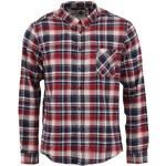 Modro-červená flanelová košile s dlouhým rukávem !Solid Jersey