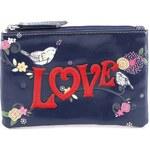 Tmavě modrá peněženka/klíčenka Vendula London Love Birds