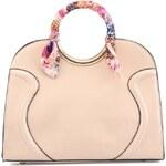 Krémová kabelka s barevným šátkem LYDC