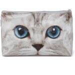 Větší taštička na zip Catseye London Silver Kitty