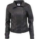 Černá koženková bunda Vero Moda Tinka