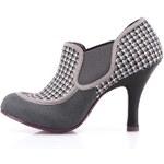 Šedé vzorované boty na podpatku Ruby Shoo Amanda
