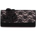 Černé krajkové psaníčko s květinami Ruby Shoo Kailey