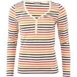 Béžové dámské triko s barevnými proužky Little Marcel Tesil