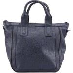 Tmavě modrá kabelka s detailem zipu Curuba