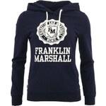 Tmavě modrá dámská mikina s kapucí Franklin & Marshall