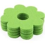 Set 4 zelených vlněných podtácků Aveva Design Flower