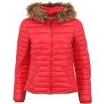 Červená dámská bunda s kožíškem Vero Moda Nomi