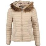 Béžová dámská bunda s kožíškem Vero Moda Nomi