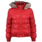 Červená bunda s kožíškem Vero Moda