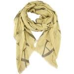 Žlutozelený šátek s písmeny INVUU London