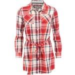 Kostkovaná dlouhá červená košile Brakeburn Folly
