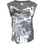 Tmavě šedé dámské tričko s potiskem Vero Moda London