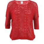 Červený svetr s tříčtvrtečním rukávem Vero Moda