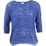 Královsky modrý svetr s tříčtvrtečním rukávem Vero Moda