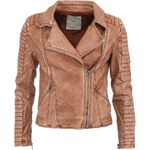 Měděná kratší koženková bunda YAYA