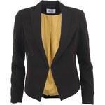 Černé sako se zlatou podšívkou Vero Moda Runing