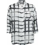 Černo-bílá košile s kostkovaným vzorem ONLY Hallow