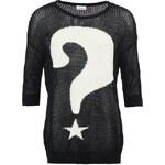 Černý svetr s otazníkem ONLY Quéstion