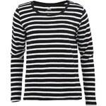 Černo-bílé pruhované tričko/mikina ONLY Nicoline