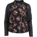 Černá květovaná bunda ONLY Floral Jaquard