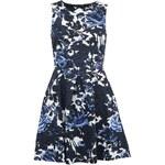 Tmavě modré květované šaty s průstřihem na zádech Closet
