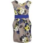 Béžové šaty s modrými detaily Closet