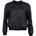 Černá lesklá bunda Louche Quentin
