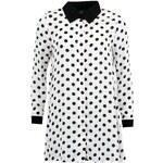 Černo-bílé puntíkované minišaty s límečkem AX Paris