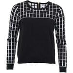 Černo-bílý kostkovaný svetr Vero Moda Bethany