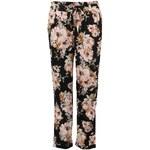 Černé květované kalhoty Vero Moda Flo