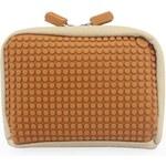 Béžovo-hnědá kosmetická taška Pixelbags Canvas Handbag