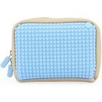 Béžovo-modrá kosmetická taška Pixelbags Canvas Handbag