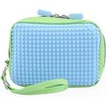 Zeleno-modrá kosmetická taška Pixelbags Canvas Handbag