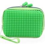 Zelená kosmetická taška Pixelbags Canvas Handbag