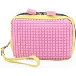Žluto-růžová kosmetická taška Pixelbags Canvas Handbag
