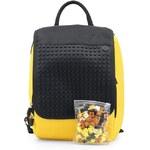 Žluto-černý batoh Pixelbags Young Style