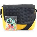 Žluto-černá taška přes rameno Pixelbags Young Style