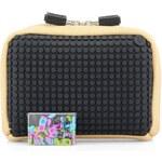 Béžovo-černá kosmetická taška Pixelbags Canvas Handbag
