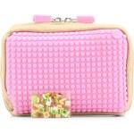 Béžovo-růžová kosmetická taška Pixelbags Canvas Handbag