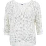 Bílý svetr s tříčtvrtečním rukávem Vero Moda Portia