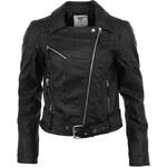 Černá dámská koženková bunda Vero Moda Swift