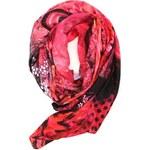 Velký šátek s růžemi Desigual Scarlet