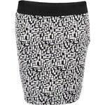 Černo-bílá vzorovaná sukně Vero Moda Bricka