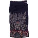 Fialová vzorovaná sukně Desigual Leyre