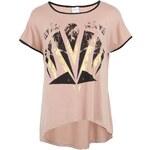 Starorůžové tričko s potiskem JUNAROSE Ella