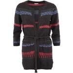 Šedý svetr s vázáním a tříčtvrtečními rukávy Lavand